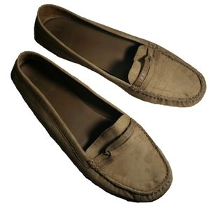 LL Bean suede loafers